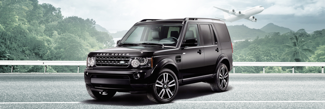 Black Land Rover Car Services in Jamaica